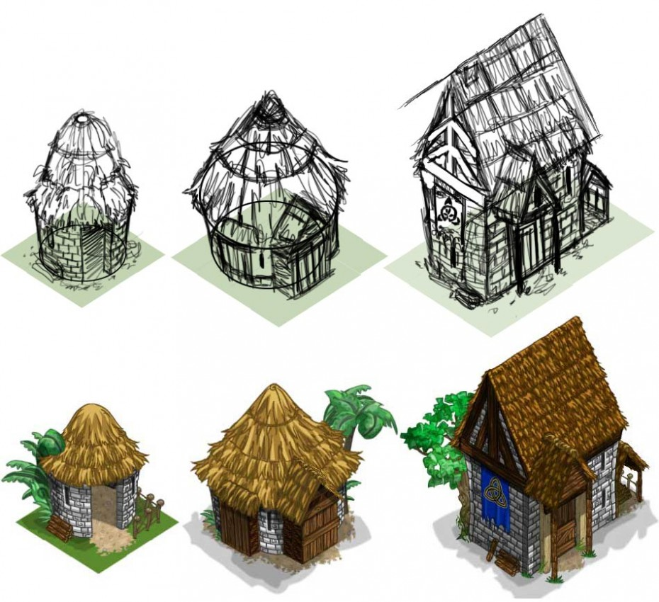 Celtic_houses_sketches